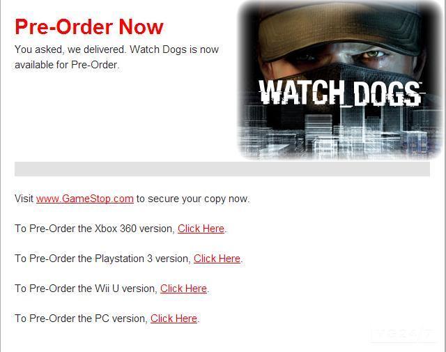 Ритейлеры подтвердили релиз Watch_Dogs на Wii U